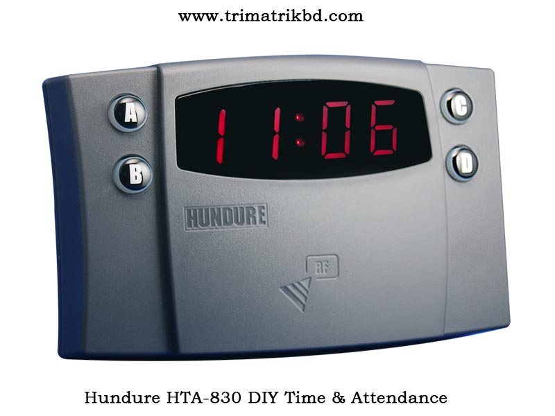 Hundure HTA-830 Price in Bangladesh, Manual time attendance machine for office and factory use. The best and most affordable price for hundure hta-830 time attendance recorder. We provide genuine products with a warranty.
