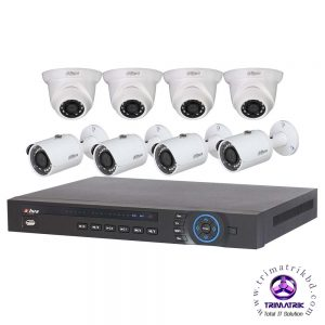 DAHUA 8 CHANNEL IP PACKAGE Bangladesh Hikvision 06 IP Camera Package (4.0 Megapixel)
