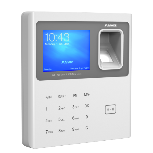 Anviz W1 Bangladesh Trimatrik bd Anviz W1 Colour Screen Fingerprint & RFID Clocking in Machine