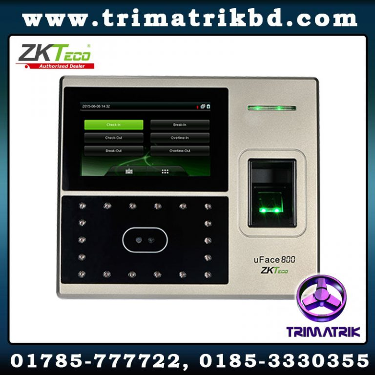 ZKTeco uFace800 Multi-Biometric Time Attendance and Access Control bd