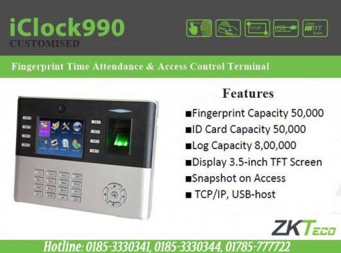 ZKTeco iClock990 Bangladesh, ZKTeco Bangladesh, Trimatrik bd