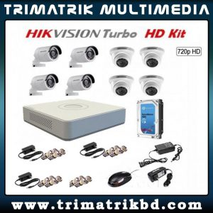 Hikvision 08 CCTV Camera Package Bangladesh