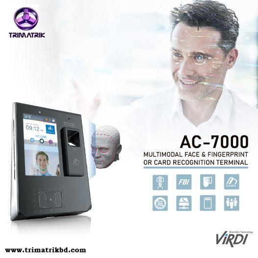 AC 7000 BD VIRDI AC-7000 High performance Face & Fingerprint Recognition