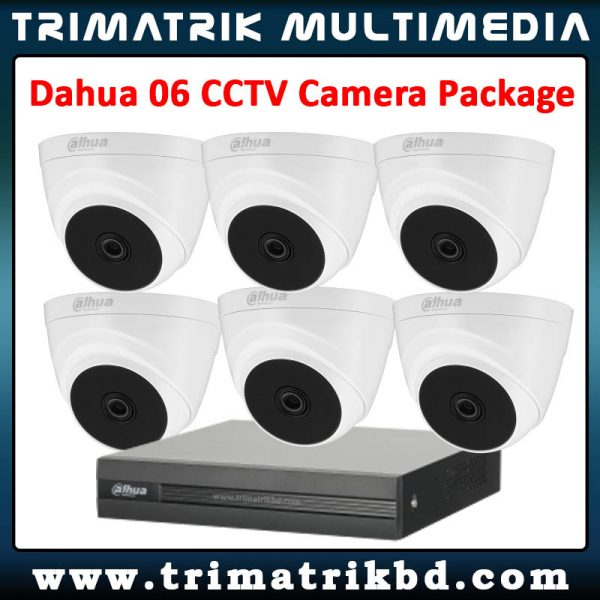 Dahua 6 CCTV Camera Package Dahua Bangladesh Dahua Service bd