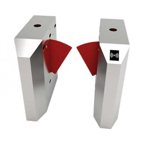 ZKTeco FBL2022 Bangladesh ZKTeco FBL4222 Pro Flap Barrier Turnstile for additional Lane (w/ controller and fingerprint & RFID reader)