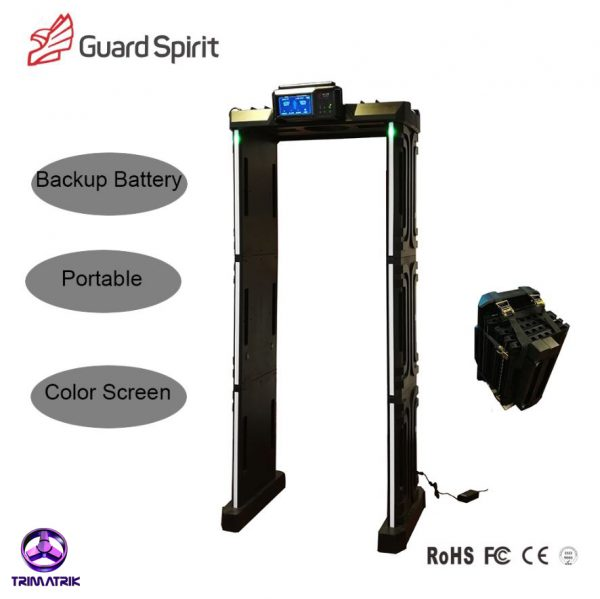Guard Spirit XYT2101 A8 Bangladesh Trimatrik archwaygate bd GUARD SPIRIT XYT2101-A8 Portable Waterproof Walk Through Metal Detector With Battery Backup