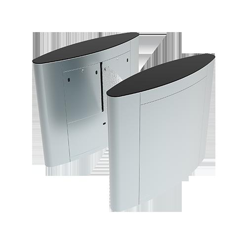 ZKTeco FBL5022 Bangladesh ZKTeco FBL4222 Pro Flap Barrier Turnstile for additional Lane (w/ controller and fingerprint & RFID reader)