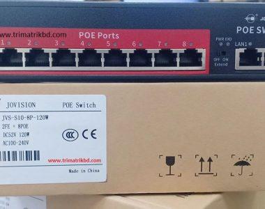 JVS-S10-8P 8Port PoE Network Switch