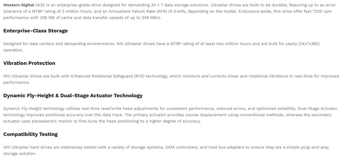 Western Digital 10TB HDD Bangladesh | Ultrastar Data Center Hard Drive (DC-HC510)