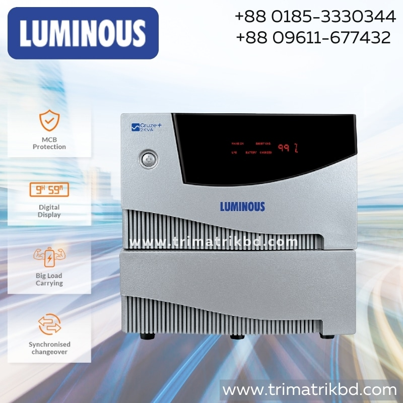 Luminous 2 KVA Cruze+ / Cruze 2000VA IPS Price in Bangladesh. Luminous 2 KVA Cruze+ / Cruze 2000VA IPS Price in Bangladesh. Buy genuine IPS in Bangladesh from Trimatrik Multimedia