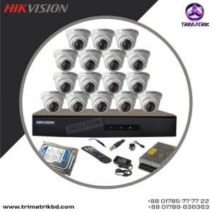 Hikvision 16 Cctv Camera Package Price in Bangladesh