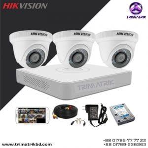 Hikvision 3 Cctv Camera Package Price in Bangladesh