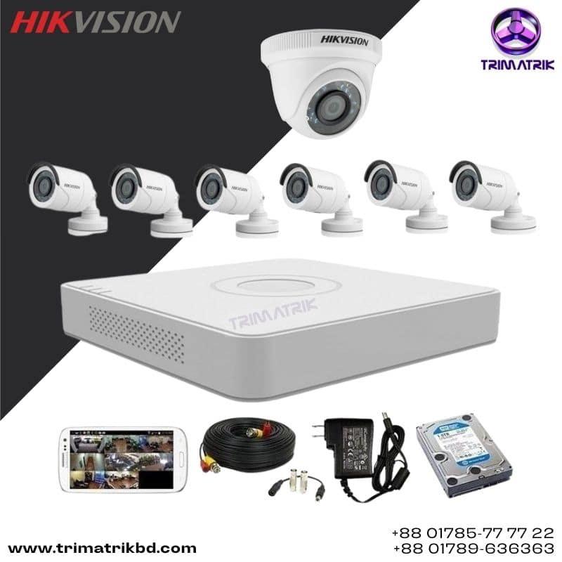 Hikvision 7 CCTV Camera Package in Bangladesh, Trimatrik